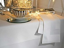 Elegant 100% Cotton Plain Satin Band Table Linen
