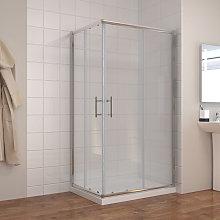 ELEGANT 1200 x 700 mm Sliding Corner Entry Shower