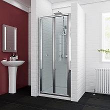 ELEGANT 860mm Bifold Shower Enclosure Reversible