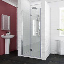 ELEGANT 900 x 900mm Bifold Shower Enclosure Glass