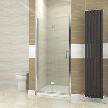 ELEGANT 900mm Bifold Shower Door Glass Shower