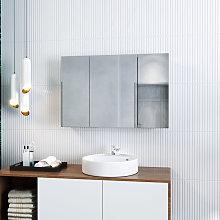 ELEGANT Bathroom Cabinet Triple Mirror 600 x 900