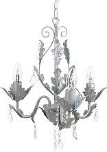 Elegant Decorative Accent Grey Chandelier Pendant
