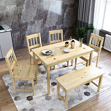 ELEGANT Dining Table and 4 Chairs Solid Pine