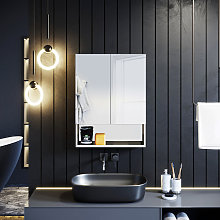 ELEGANT Double Mirror Wall Mounted Cabinet, 800 x