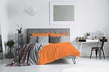 ELEGANT duvet cover set,orange,double, Microfiber