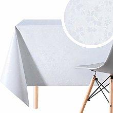 Elegant Embossed Feel Wipe Clean Tablecloth -