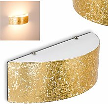 Elegant Gold Wall Light Curved Metal Lampshade -