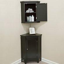 Elegant Home Fashions Bathroom Corner Cabinet Unit