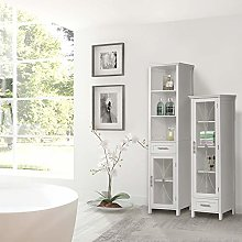 Elegant Home Fashions Delaney Linen Cabinet with 1