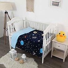 Elegant Home Kids Soft & Warm Sherpa Starts Galaxy