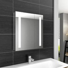 ELEGANT Illuminated Bathroom Mirror Cabinet with