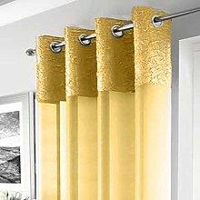 Elegant Madeira Ring Top Voile Curtain Panel -