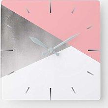 elegant modern faux silver blush pink geometric