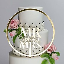 Elegant Mr & Mrs and Large Flower Hoop Premium