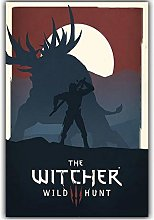 Elegant Poetry Modern Simple Game Witcher 3 Canvas