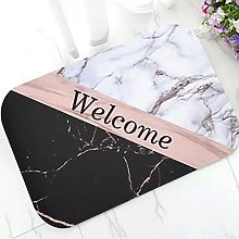 Elegant Rose Gold Marble Rug Carpet Modern Black