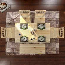 ELEGANT Solid Wooden Dining Table and 4 Chairs Set