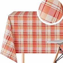 Elegant Tartan Pattern Wipe Clean Tablecloth -