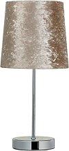 Elegent Velvet Look Table Lamp - Beige style