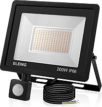 ELEING 200 W LED Spotlight Outdoor with Motion