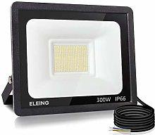 ELEING 300W LED Flood Lights Outdoor, Super Bright