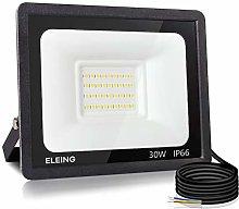 ELEING 30W LED Flood Lights Outdoor, Super Bright