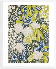 Elena Blanco - 'Ink Floral' Framed Print,