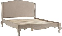 Elena Upholstered Bed Frame Lily Manor Size: