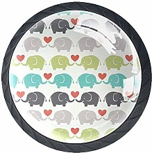 Elephant (3) 4 Packs Kitchen Cabinet Knobs,Pulls