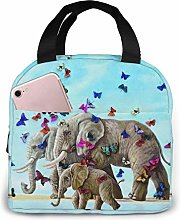 Elephant and Butterfly Portable Lunch Bag