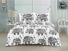 Elephant Animal Geometric Printed Easy Care Duvet