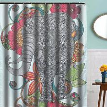 Elephant Beautiful Design Polyester Shower Curtain