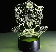 Elephant Buddha 3D Night Light Kids Children