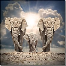 Elephant Family Painting Print On Canvas Posters