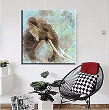 Elephant Family Pictures Watercolor Paintings