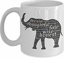 Elephant Lovers 11oz Ceramic Coffee Mug Positive