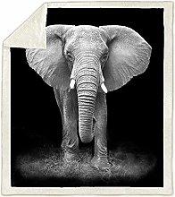 Elephant Printed Blanket,Animal Printed Super Soft