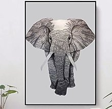 Elephant Scenery Nordic Canvas Painting Print Wall