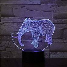 Elephant Shape 3D Illusion Night Light 7 Color