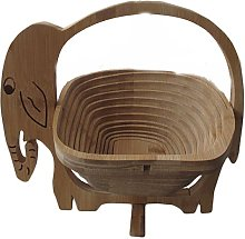Elephant Shaped Bread Decor Rosewood Collapsible