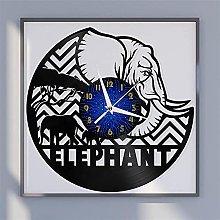 Elephant theme vinyl record wall clock wall clock