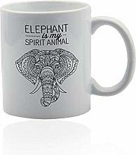 Elephant White Ceramic Mug- Elephant is My Spirit
