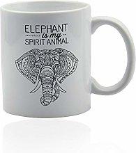 Elephant White Ceramic Mug Elephant is My Spirit