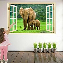 Elephants Animal Wall Art Stickers Mural Decal
