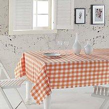ElfRoutes Colorful Plaid Table Cloth - 100% Cotton