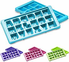Elianware Pack of 2 Alphabet Ice Cube Tray Maker