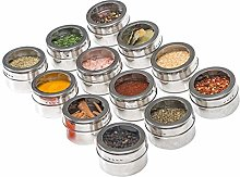 Elibeauty Upgrade Magnetic Spice Jars 12pcs with