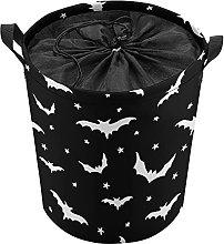 ELIENONO Drawstring Laundry Bag,Seamless Vector