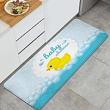 ELIENONO Kitchen rug,Cute Little Yellow Duck Theme